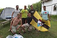 Liberland Settlement Association members at the LSA house, Bezdan, Serbia