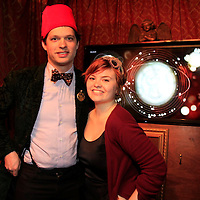 Sean Proper and Sadie Harrision the organizers of the Dr. Who event at The Way Station Bar and Venue in Prospect Heights. Shot on March 31, 2013 ..Photo Credit ; Rahav Iggy Segev/Photopass.com