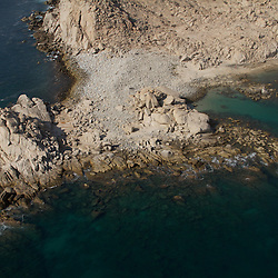 Aerial view of Cabo Pulmo, located in Baja California Sur.  Cabo Pulmo is the most important coral reef in the East Pacific. A marine reserve, which has been declared of universal interest by UNESCO. (Photo: Greenpeace / Prometeo Lucero)