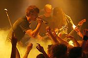 Auftaktkonzert zur Deutschland-Tournee der Newcomer-Band Madsen in Dannenberg. Am Mikrofon Saenger Sebastian Madsen. ..Newcomer Band Madsen live at their germany tour.