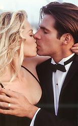 hot couple kissing