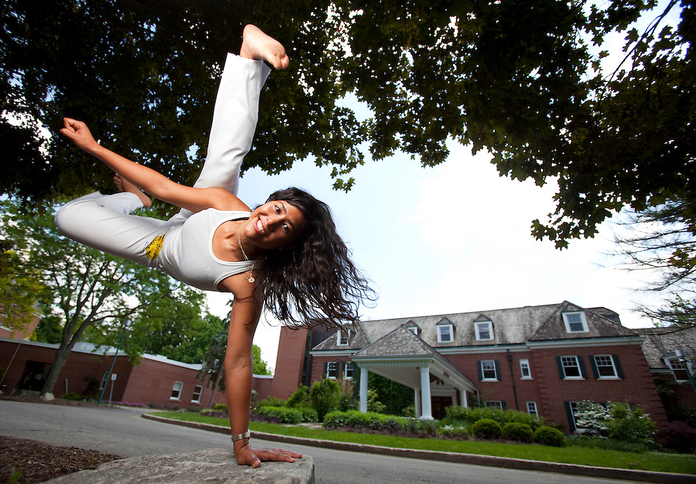 London, ONT.: May 26, 2010 -- MBA student Pema Lhalungpa practices the Brazilian martial art of Capoeira at the Ivey School of business in London, Ontario, May 26, 2010.<br /> (GEOFF ROBINS for National Post)