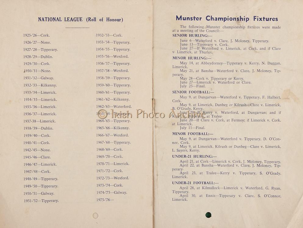 National Hurling League Semi-Final.Semple Stadium, Thurles, Co. Tipperary.04.04.1976  4th April 1976.Kilkenny v Cork
