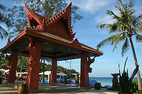 Thai Sala or Pavilion at Kata Beach protects from the tropical hot sun and adds flavor to the architectural landscape.