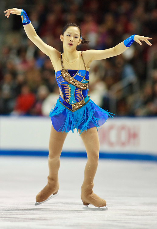 20101030 -- Kingston, Ontario -- Haruka Imai of Japan skates her free skate at Skate Canada International in Kingston, Ontario, Canada, October 30, 2010. <br /> AFP PHOTO/Geoff Robins