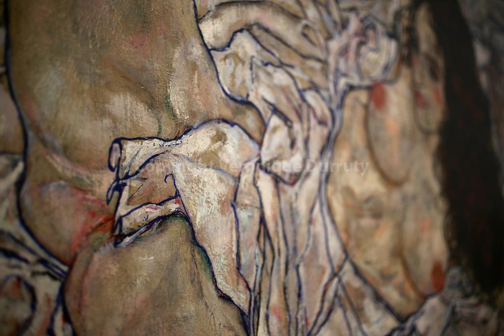 Egon Schiele, Legende Frau, reclining woman, ( detail ) 1917, Leopold Museum, Vienna, Austria // Egon Schiele, Legende Frau, femme allongee, ( detail ) 1917, Musee Leopold, Vienne, Autriche