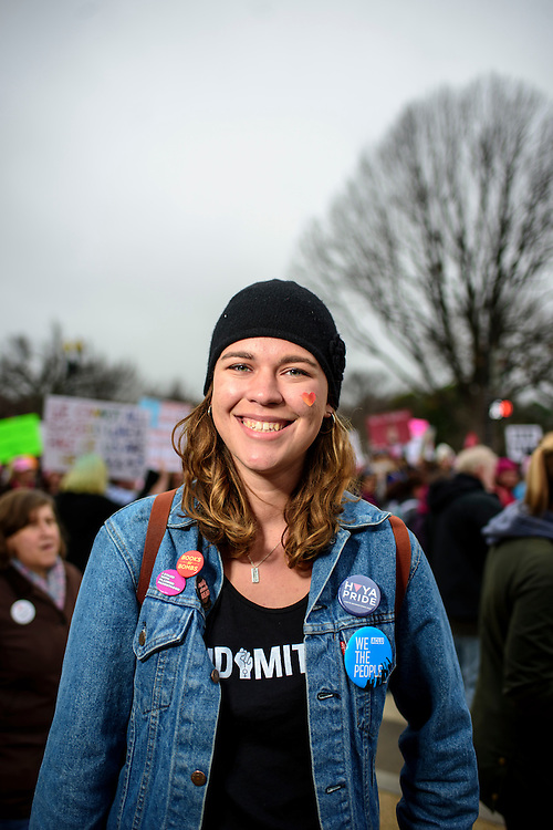 Washington, D.C. - January 21, 2017: Mayze Teitler, 20, Connecticut.<br /> An estimated half a million people showed up to the nation's capital for the Women's March on Washington Saturday January 21, 2106.<br /> <br /> <br /> CREDIT: Matt Roth for Buzzfeed