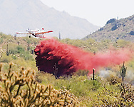 Fire bomber hits wildfire