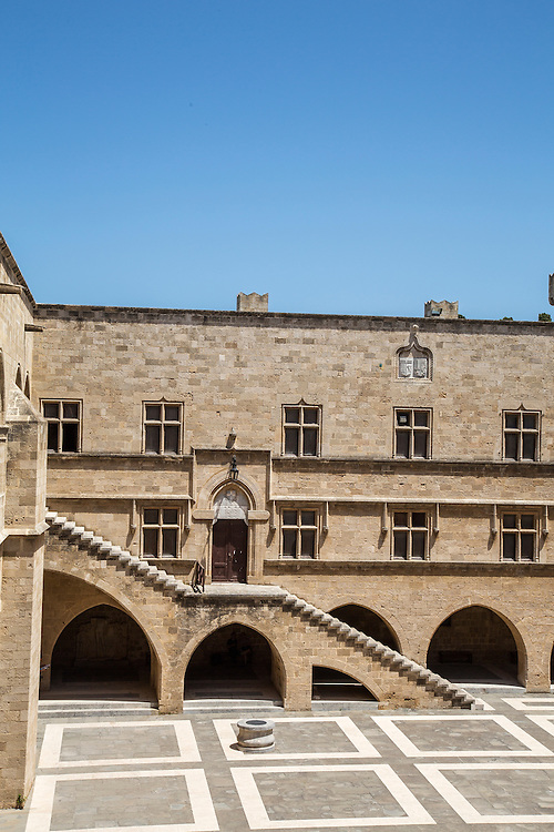 A Square in Old Rhodes Town, Rhodes Greece