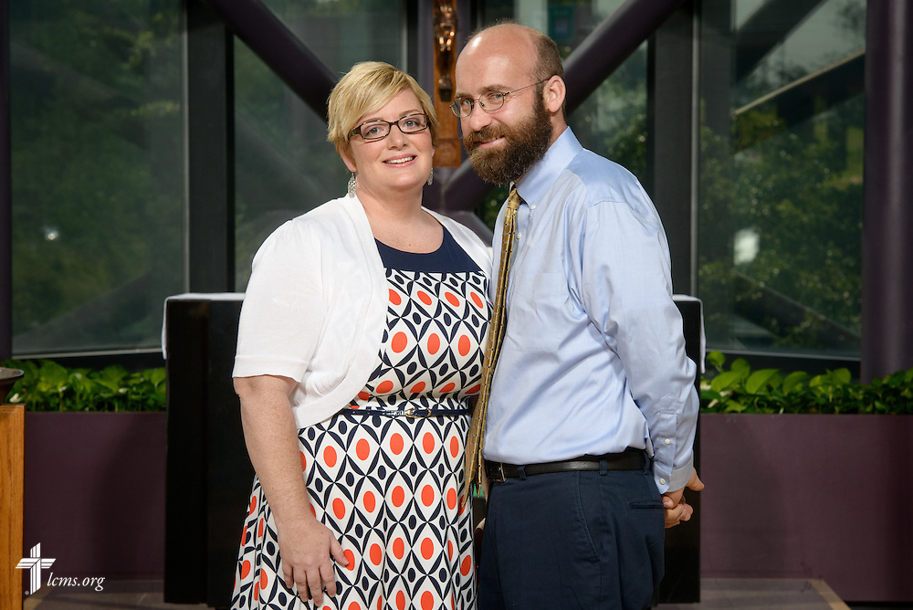 Portrait of Mark and Megan Mantey, career missionaries to Uganda, at the International Center of The Lutheran Church–Missouri Synod on Monday, June 13, 2016, in Kirkwood, Mo. LCMS Communications/Erik M. Lunsford