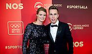 AMSTERDAM - Dafne Schippers, Nicky romero De verkiezing van de sporters van het jaar tijdens het NOC*NSF Sportgala in de RAI.  COPYRIGHT ROBIN UTRECHT