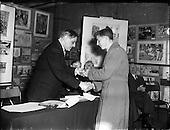 1956 -Alderman R Briscoe, Lord Mayor of Dublin, Opening Caltex Child Art Exhibition at Parnell Squar