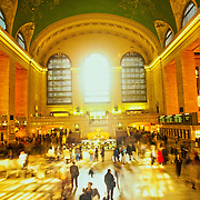 Hussle and bustle of Grand Central Station with people moving in every direction.
