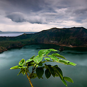 LAKE TAAL (Philippines). 2009. Main Taal vulcano´s crater.