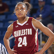 College of Charleston Guard BREANNA BOLDEN (24) watches the ball in the second half of a Colonial Athletic Association regular season basketball game between Delaware and College of Charleston Sunday, Jan. 22, 2017 at The Bob Carpenter Sports Convocation Center in Newark, DEL