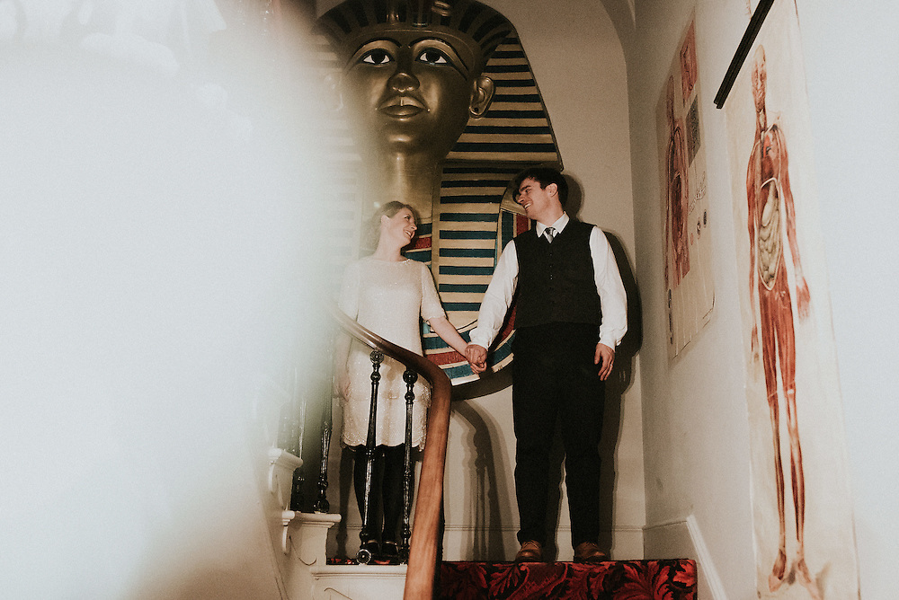 Jo & Jeff's Wedding, Bell casting ceremony at Shepherds Purse Courtyard & reception at La Rosa Hotel, Whitby. 28th December 2016
