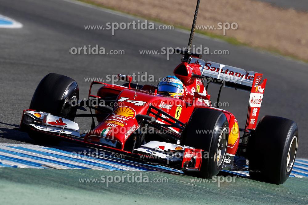 Motorsports: FIA Formula One World Championship 2014, Tests in Jerez de la Frontera, Fernando Alonso (ESP, Scuderia Ferrari), *** Local Caption *** © pixathlon
