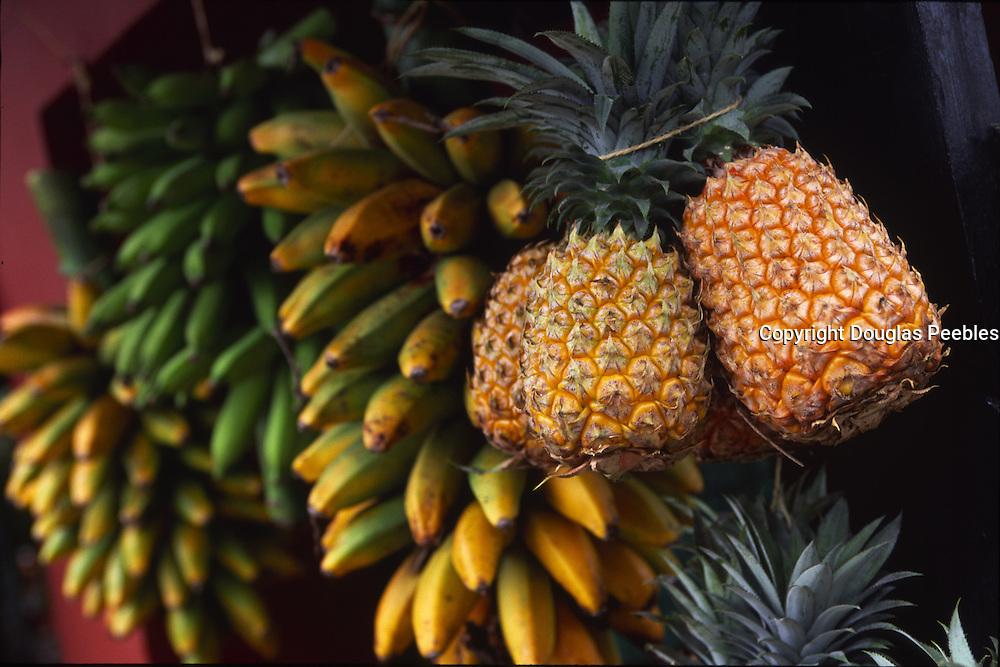 Fruit stand, Island of Tahiti, French Polynesia<br />
