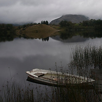 Boat at lake shore atmosphere Norway