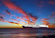 Austal Ships &quot;Leonora Christina&quot;<br /> sea trials off Cottesloe Beach.