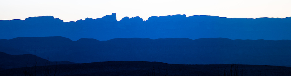 The Chisos Mountains, Big Bend National Park.