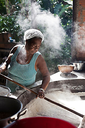 Luciana B. Vasconcelos, 58, works with the family in one of the last houses of flour in Sap&ecirc; From The North, as this Afro-Descendant place is called.<br />