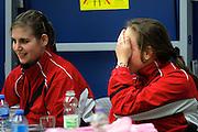 OSS - Tafeltennis, SKF - FVT, Promotiewedstrijd naar eredivisie 11-12-2011, Speelster balen van gemiste promotie