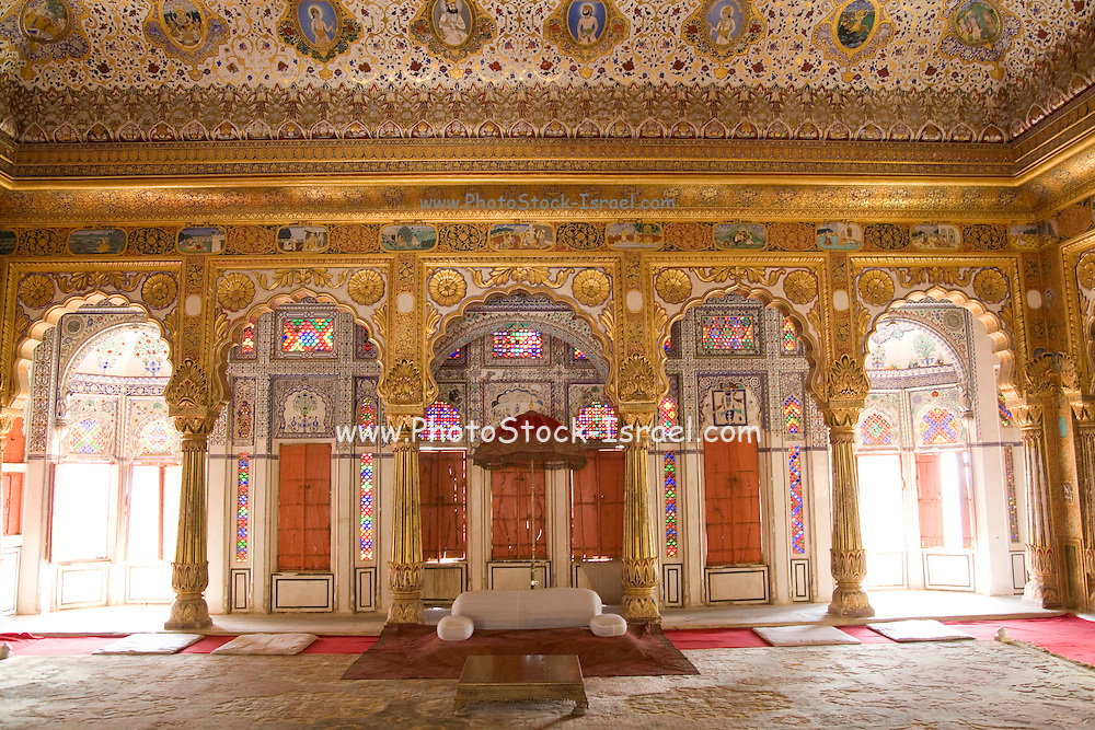 India, Rajasthan, Jodhpur, Mehrangarh fort the main bedroom
