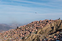 El Alto International Airport is an international airport located in the city of El Alto, Bolivia, 8 mi (13 km) south-west of La Paz. At an altitude of 4,061.5 m (13,325 ft), it is the highest international airport and the fifth highest commercial airport in the world.