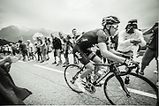 Team Sky Rider Richie Porte on the second ascent of Alpe D'Huez. Tour de France 2013.