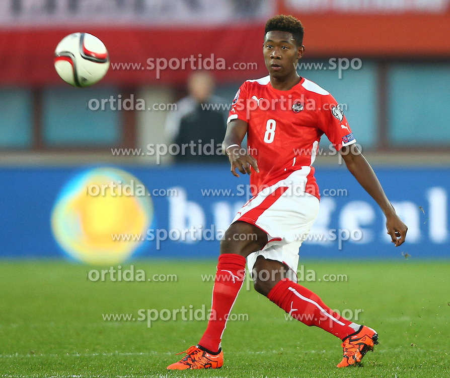 12.10.2015, Ernst Happel Stadion, Wien, AUT, UEFA Euro 2016 Qualifikation, Oesterreich vs Liechtenstein, Gruppe G, im Bild David Alaba (AUT) // during the UEFA EURO 2016 qualifier group G between Austria and Liechtenstein at the Ernst Happel Stadion, Vienna, Austria on 2015/10/12. EXPA Pictures © 2015, PhotoCredit: EXPA/ Thomas Haumer