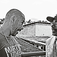 José Junior (Afro-Reggae NGO director) & Spikee Lee  witch is shooting a new documentary Go Brazil, Go - with a lot of locations & interviews - here in Vigario Geral favela, suburb & North Zone of Rio de Janeiro.