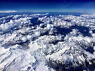 Flying over the Italian section of the Alps on route to Venice from London.