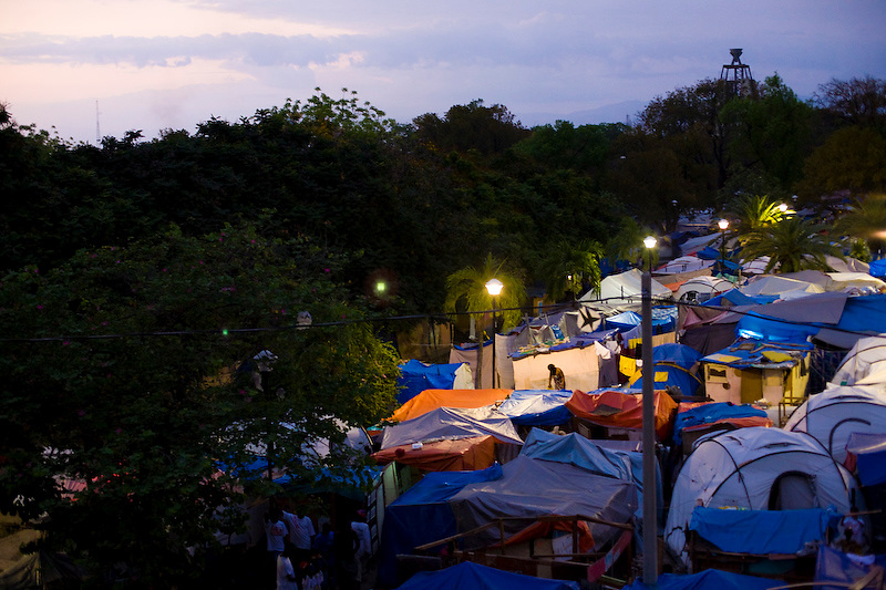 Temperary camp of earthquake victims. Champs Mars, Port Au Prince, Haiti. 3/23/2010 Photo by Ben Depp