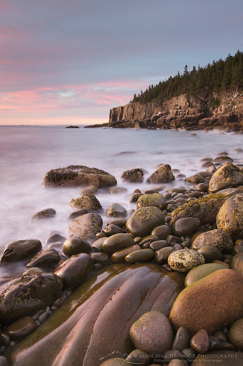 Cobblestone Beach at Otter Cliffs, Acadia National Park, Maine