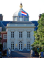 23-7-2014 THE HAGUE - The Dutch government has declared a day of national mourning due to the crash of flight MH17 in Ukraine. Bodies recovered from the crash site of Malaysian flight MH17 will be flown to the Netherlands on July 23 The Dutch flag half mast at the future residence of King Willem-Alexander Royal Palace Huis ten Bosch because of the tragedy with flight MH17 in The Hague, The Netherlands. COPYRIGHT ROBIN UTRECHT