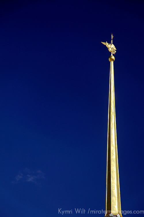 Europe, Russia, St. Petersburg. The Peter and Paul Fortress Belltower.