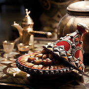 Arabic sweets and traditional coffee pot