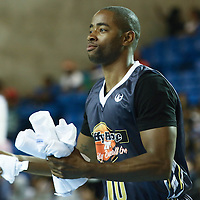 Actor Jay Ellis of (BET'S The Game) tosses T-shirts into the stands while participating in The 2014 Duffy's Hope Celebrity Basketball Game Saturday, August 2, 2014, at The Bob Carpenter Sports Convocation Center, in Newark, DEL.    <br /> <br /> Proceeds will benefit The Non-Profit Organization Duffy's Hope Youth Programming.