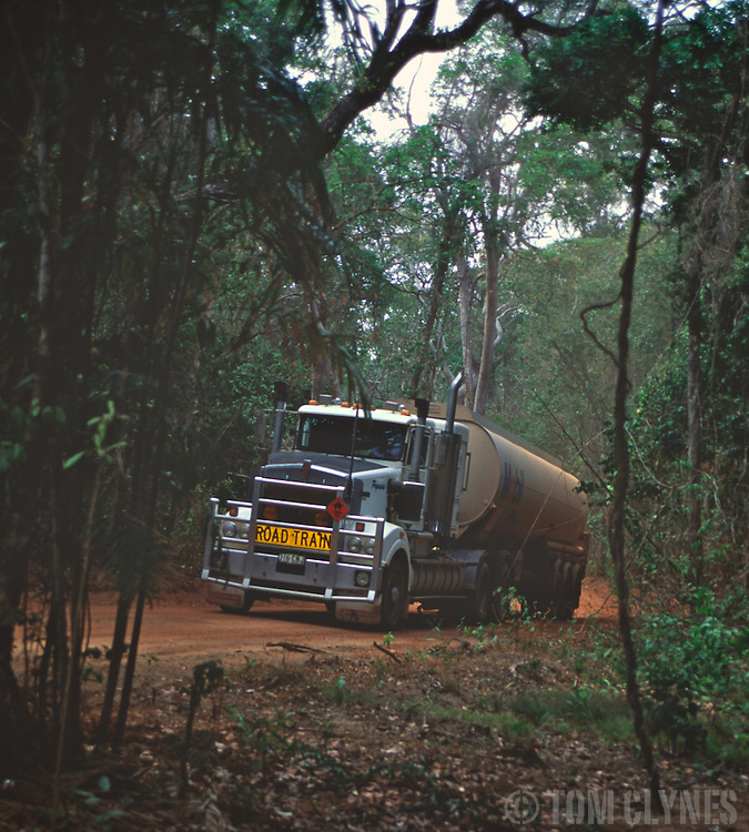 """Garry White, """"the world's toughest trucker,"""" delivers diesel fuel to the cattle stations, aboriginal communities and remote settlements of the Cape York Peninsula in far north Queensland, Australia. Writer and photographer Tom Clynes rode along on his 2,400 km round trip through the continent's most inaccessible wilderness."""