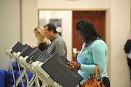 Patricia Howard votes at the Oxford Conference Center in Oxford, Miss. on Tuesday, November 6, 2012. (AP Photo/Oxford Eagle, Bruce Newman)