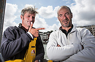 The Sevenstar Round Britain Race 2014. Musandam-Oman Sail MOD70 Trimaran sets a new world record and finishes the race in 3days 3hours 32minutes 36 seconds. Beating the current record by 16 minutes. Skipper Sidney Gavignet (FRA) and co-skipper Damian Foxall (IRL)<br /> Credit - Lloyd Images