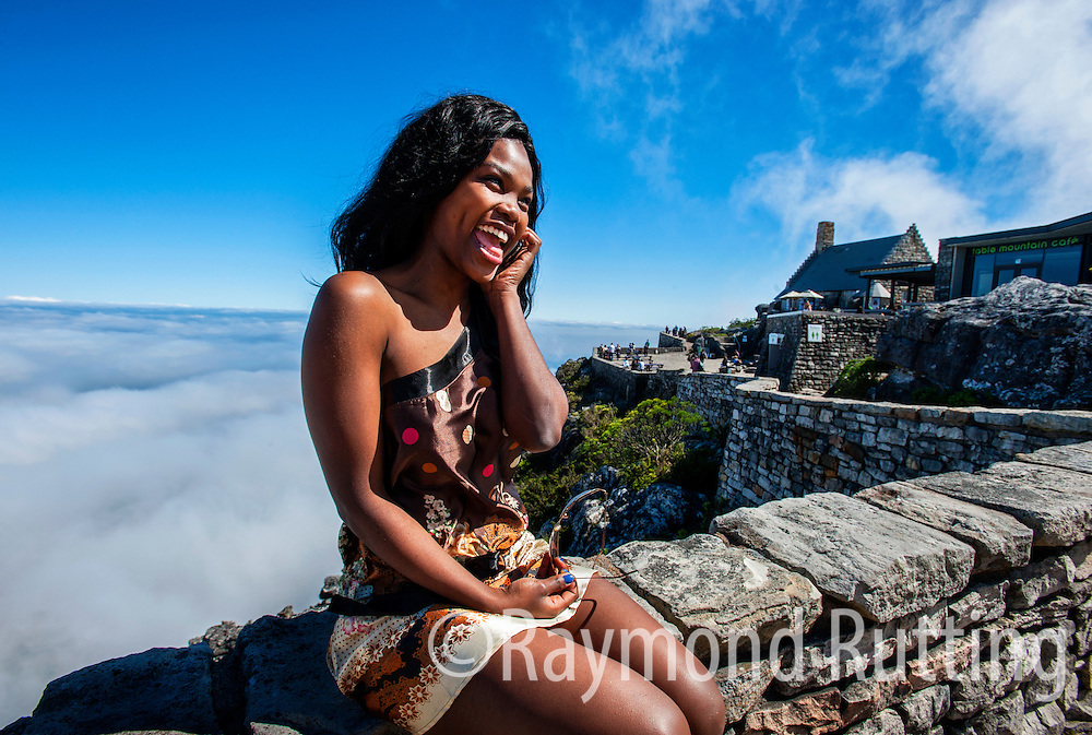 South Africa - Capetown- Table Mountain (Khoikhoi: Hoerikwaggo, Afrikaans: Tafelberg) is a flat-topped mountain forming a prominent landmark overlooking the city of Cape Town in South Africa. It is a significant tourist attraction, with many visitors using the cableway or hiking to the top. The mountain forms part of the Table Mountain National Park. photo raymond rutting