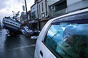 Miyako city.Effects of the tsunami.