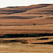 Tiered and eroded landscape.Flint Hills between Piedmont and Beaumont, KS,.January 7, 2012