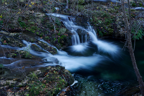 Stock photo of waterfalls and flowing waters in the Texas Hill Country