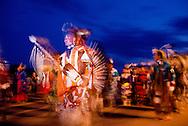 Powwow on Pine Ridge Sioux Indian Reservation, South Dakota, Traditional Dancer