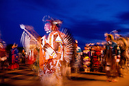 Powwow on Pine Ridge Sioux Indian Reservation, South Dakota, Traditional Dancer
