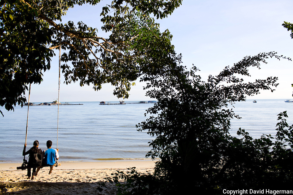 enjoying the view at Taman Negara Pulau Pinang