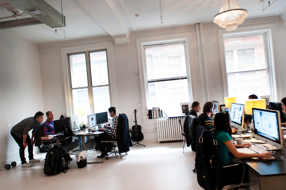 The New York office of Your Majesty - a swedish creative agency.